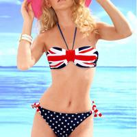 2015 Victoria's Womenwide Sexy Push up Bright Diving Suit Material-neoprene  Bikini Swimsuit Swimwear  national flagbikinis 19