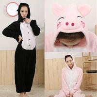 Pig Pajamas Black Pink Pig Cosplay Costumes Animal Sleepewear Halloween Christmas Party Mascot Performance Free Shipping