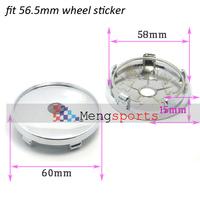 100pcs Chrome Plastic Wheel Center caps Hub fit 56.5mm logo