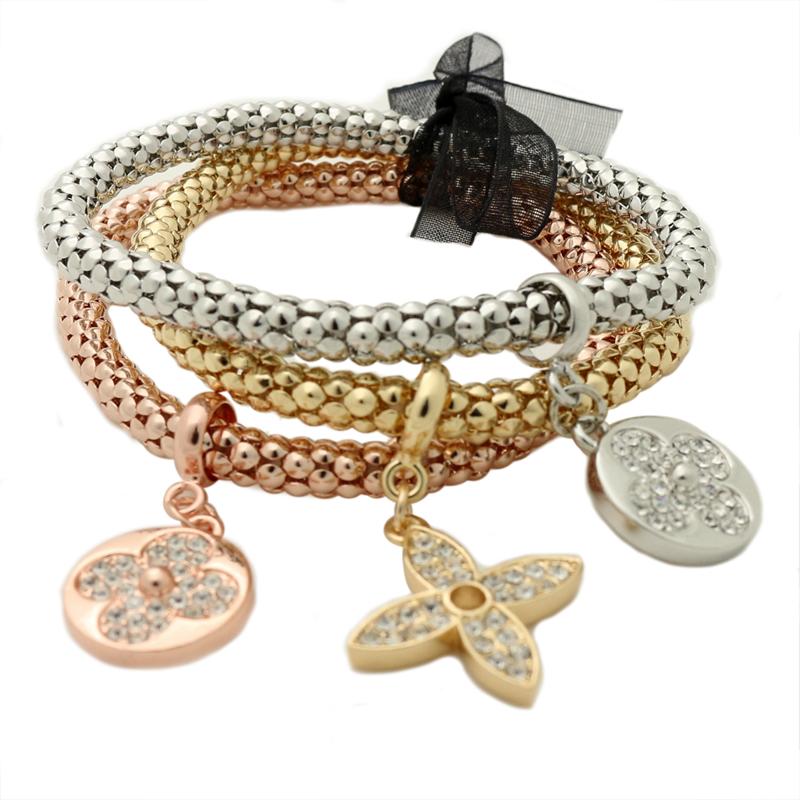 GUST Brand Jewelry Fashion Flower Ornament Crystal Vintage Elastic Strand bracelets & bangles Women Girls Dress Accessories B93(China (Mainland))