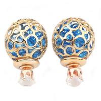 TOP new fashion brand jewelry gifts crystal earrings pierced earrings Ms. ball zircon earrings 112897
