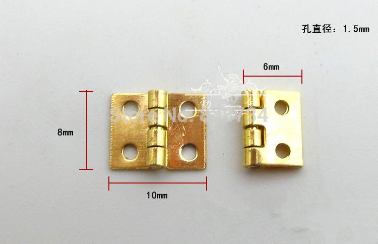 100pcs 8*10*0.5mm mini /micro brass gift box hinge(China (Mainland))