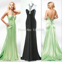 Sexy Mermaid Prom Dresses Halter Beaded Mint Green/Black Long Prom Party Dress For Prom Vestidos Longos Formatura Robe De Soiree