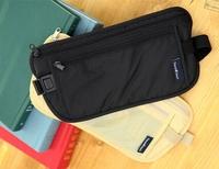 Free Shipping+Wholesale Travel Storage Bag Money Security Purse Money Coin Card Passport Waist Belt Tickets Bag Pouch,100pcs/Lot