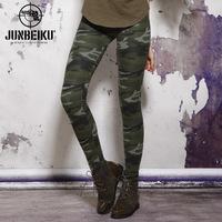 Women's Camouflage elastic leggings legging elastic slim pencil pants casual pants