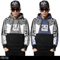 Exclusive sale !!! 2015 New West baseball cashew flower sweatshirt hoodies men clothing hiphop sport jogging casual sweater coat