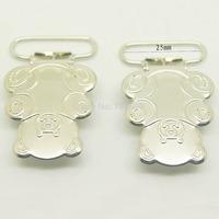 20pcs/lot,25mm ribbon go through teddy bear shape suspender clips,Wholesale Suspender Clip,Clips Suppliers & Manufacturers