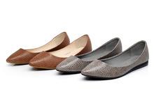 spedizione gratuita favarit 2015 nuovo nuovo design donne vintage case di moda modello crepa ballerine scarpe da donna(China (Mainland))