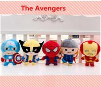 "The Avengers Super Heroes Plush Toys Thor Wolverine Spider man Captain America Iron Man Plush Dolls 7"" 18CM 5pcs/lot"