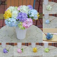 Hot New Wholesale Artificial Craft Hydrangea Bouquet Party Home Decoration Wedding Plastic Bridal Decor Flowers For Xmas A2