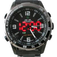 Free Shipping men luxury brand WEIDE LED Digital Military Quartz watch relogio masculino Cool Black Men Sport Wristwatch