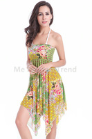2015 Summer Holiday Women Girl Gift Beach Sunbathing Cover Up Wear Magic Multi Dress Mesh Yarn Elastic Vestido de praia Bikinis