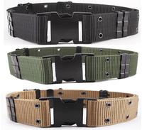Tactical Military Outdoor Nylon Combat Heavy Duty Web Belt Military Fans Armed S Outer Belt BK/DE/OD