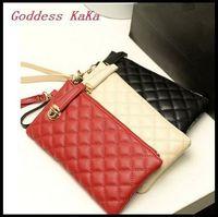 HOT!!! Women Mini Bag PU Leather Day Clutch Korean solid Plaid Casual Clutch Lady Wallet purses  CH013