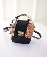 2015 new turn-lock type small bag pig nose buckle shoulder bag handbag women bag free shipping cute scarves