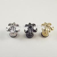 24pcs Free Shipping Fashion Punk Stainless Steel Vintage Cross pentagram Flower earrings Stud earrings for  Men women