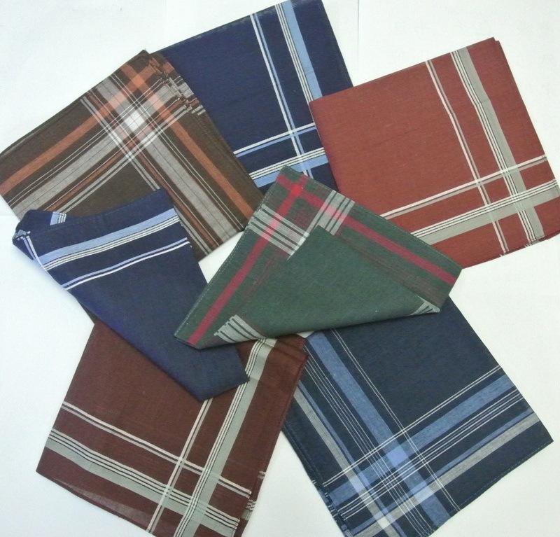 12 pieces / one dozen large size 38cm x 38cm deep color striped pattern 100% cotton handkerchiefs(China (Mainland))