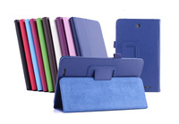 (100PCS/Lot) For Acer Iconia Tab 8 W1-810 Flip Cover,Litchi Stand Leather Case For Acer W1 810 W/Pen Slot