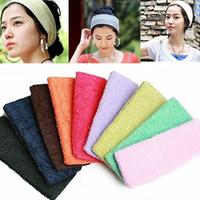 2015 New Candy Color Sport Hair Band Yoga Towel Headband