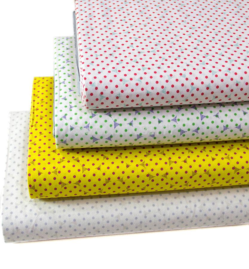 4pcs/lot 45X55CM Drop DIY Quilt Textile Cloth Patchwork Tilda Cloth Cotton Fabric Import From Japan(China (Mainland))