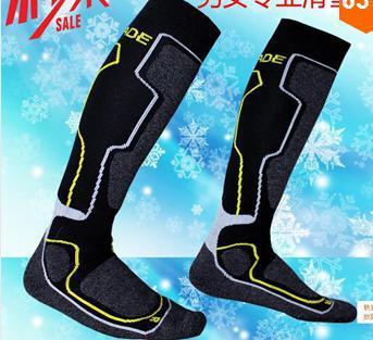 2015 men and women in the thick ski socks Merino wool socks outdoor sports climbing riding towel bottom stockings(China (Mainland))