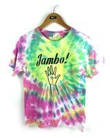Harajuku Women 2015 Summer Tops Tie Dye Shirt Punk Rock Fashion Cotton Baseball Tee Shirts