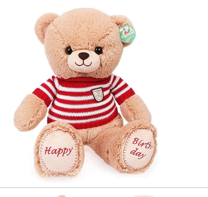 Stuffed plush animals doll wear sweaters teddy bear doll happy birthday bear plush toy the best birthday gift 65cm(China (Mainland))