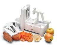 Fruit Garnish Cutter Peeler Spiral Fruits Vegetable Curly Slicer Kitchen Tools FREE SHIPPING H1354