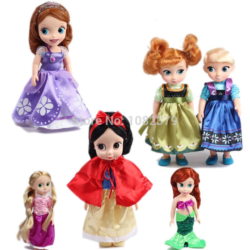 Hot girls Toys, Anna and Elsa Princess fashion Doll &Brave Melinda,Mermaid,Tangled,Snow White and Sofia Princess Doll Toy(China (Mainland))