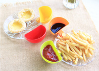 Free shipping 2015 New Dip Clips A Dip and Clip relish plate Pepper easy clean up dishwashier safe 4pcs in 1 set H1346
