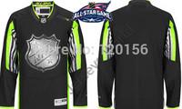 2015 New All Star Ice Hockey Jerseys Color Black No Name Hockey Jerseys  Free Shipping   M-XXXL