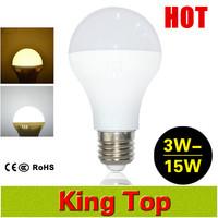 NEW LED lamps 3W 5W 7W 9W 12W 15W E27 LED bulb light lighting high brightness 220V 230V warm white/white Free shipping