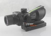 Airsoft Trijicon 4x32 ACOG TA31 Type Cross Sight Scope Riflescope with Fiber & Quick Detach 11,GL 4x32C black (Real green fiber)