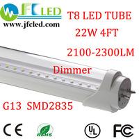 4pcs led tube t8 dimmer light 4ft led t8 tube 1200mm 22w 2100-2300lm led fluorescent tube t8 110v 240v G13 hot sale led tubo