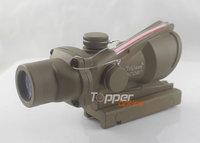 Airsoft Trijicon 4x32 ACOG TA31 Type Cross Sight Scope Riflescope with Fiber & Quick Detach 11,GL 4x32C brown (Real red fiber)