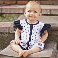 Fashion Cotton Baby Girls Clothing Polka Dot Ruffles Baby Summer Romper Newborn Baby Casual Clothes Roupa De Bebe Menino