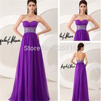 2014 Off The Shoulder Special Offer Real Vestido De Festa Longo A-line Flowy Chiffon Evening Dress 2013_bridalk