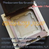 QFN76 test socket WSON76 DFN76 MLF76 IC socket Size=25x25mm 27x27mm
