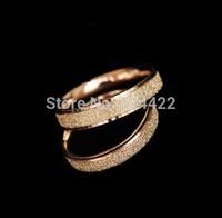 Min 1pc NEW Fashion High Quality Matte Ring Dazzling Romantic Pair Ring Titanium Plating Shine  Lovers Ring-JZ146
