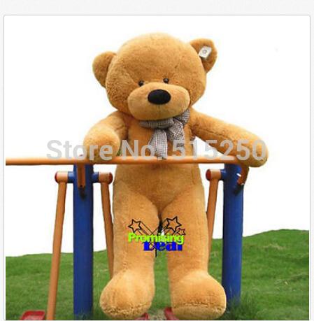 "CUTE GIANT 63"" TEDDY BEAR light brown HUGE SOFT STUFFED BIG PLUSH(China (Mainland))"