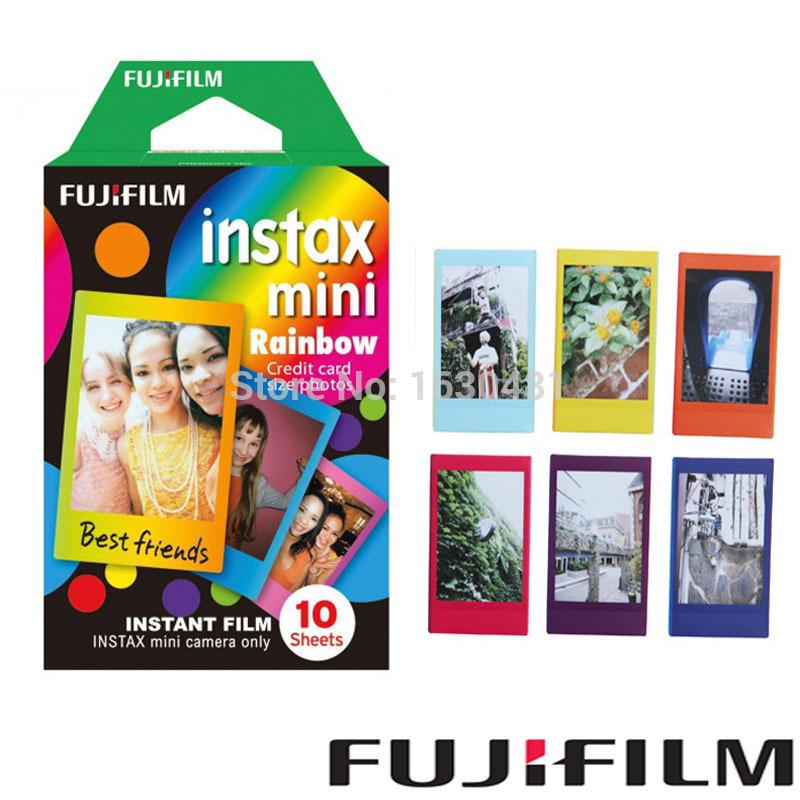 Fujifilm Instax Mini Film Rainbow 10pcs for Fuji Instax Mini Camera 7 7s 8 25 50 90 SP1(Hong Kong)