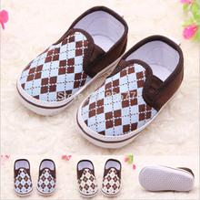 Newborn Baby New Style Plaid Very Light Shoes Boys Kids Prewalker Anti-Slip Soft Soled Bottom Infant Toddler Bebe Footwear(China (Mainland))
