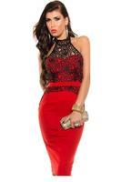 2015 Sexy Club Dress Women Lace Splice Turtleneck Halter Apricot Vintage Dress LC6991 Bodycon Pencil Dress Bodycon Pencil Dress