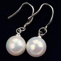 925 Sterling Silver with Shell Bead Earrings, YSM Brand Jewelry Women Accessories Earrings SE0014