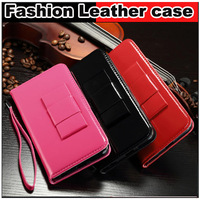 """Luxury Lanyard Bow with Wallet card slot Leather Case cover For iphone 6 4.7 """" plus 5.5 """" inch"""
