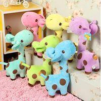 2014 new infant baby boys girls toy Lovely Giraffe Deer Soft Plush Toy children Animal Dolls Baby Kid Birthday Party Gift 1PIECE