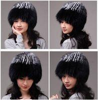 Winter Hat Real Fox Fur Hat Russian Ushanka Cossack Women Beanie HC 013 1