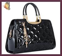 NO.1 Women's Handbags Fashion Genuine Leather Handbags BOW Bolsas Femininas Brand Patent Leather Handbags Women Leather Bags HOT