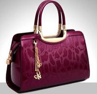 NO.1  New 2015 Famous Brand Women Genuine Leather Handbags Fashion Women Messenger Bags Tassel OL Patent Leather Handbags Bolsas