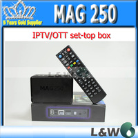 Hot sale mag250 linux 2.6.23 system iptv set top box Processor STi7105 RAM 256 Mb MAG 250 iptv box by fedex